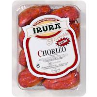 Chorizo artesano pincho IRURA, 8 unid., bandeja aprox. 230 g