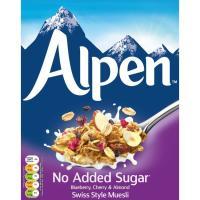 Muesli sin azúcar  blueberry-cherry-almond ALPEN, caja 560 g