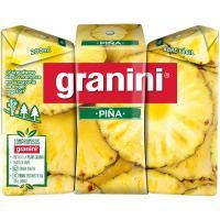 Néctar de piña GRANINI, pack 3x20 cl