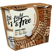 Yogur desnatado de coco LIGHT&FREE, pack 4x115 g