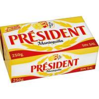 Mantequilla PRESIDENT, bloque 250 g