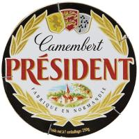 Queso Camembert PRESIDENT, caja 250 g