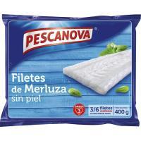 Filetes de merluza sin piel PESCANOVA, bolsa 400 g