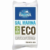 Sal marina ecológica LA BALLENA, paquete 800 g