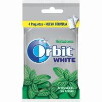 Chicle White de hierbabuena ORBIT, pack 4x14 g