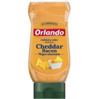 Salsa cheddar-bacón ORLANDO, bocabajo 245 g