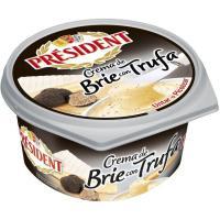 Queso crema brie de trufa PRESIDENT, tarrina 105 g