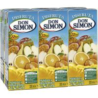 Nectar sin azúcar multivitaminas DON SIMON, pack 6x20 cl