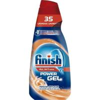 Detergente power gel antiolor FINISH Todo en 1, botella 35 dosis
