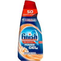 Detergente power gel antiolor FINISH Todo en 1, botella 50 dosis