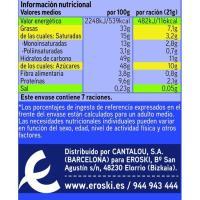 Chocolate con leche y almendras EROSKI, tableta 150 g
