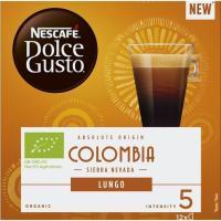 Café origen Colombia NECAFÉ Dolce Gusto, caja 12 monodosis
