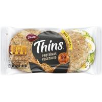 Pan proteínas vegetales THINS, 6 unid., paquete 232 g
