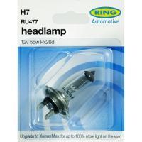 Lámpara halógena auto h-7 12v 55w RING, 1ud.