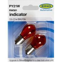 Lámpara indicadore ámbar 12v 21w bau 15 RING, 2uds