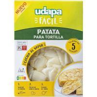 Patata para tortilla UDAPA FÁCIL, bandeja 450 g