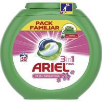 Detergente en cápsulas 3en1 ARIEL Sensaciones, caja 50 dosis
