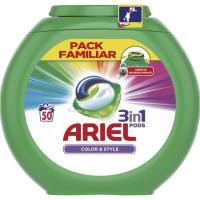 Detergente color en cápsulas ARIEL, caja 50 dosis