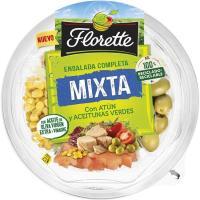 Ensalada mixta de atún-aceitunas verdes FLORETTE, bowl 190 g