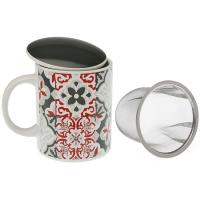 Taza infusión con filtro Hidra, porcelana, 33 cl