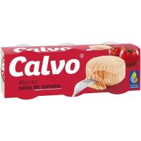 Atún con tomate CALVO, pack 3x80 g