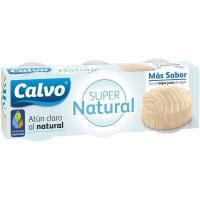 Atún claro super natural CALVO, pack 3x65 g