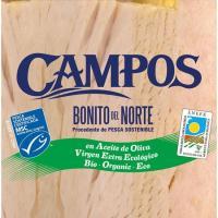 Bonito en aceite virgen extra ecológico MSC CAMPOS, lata 160 g