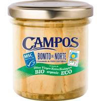 Bonito en aceite virgen extra ecológico MSC CAMPOS, frasco 150 g