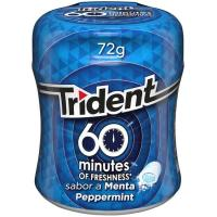 Chicle de menta Lc TRIDENT 60 Minutos, bote 72 g
