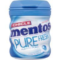 Chicle Gum de menta MENTOS, bote 60 g