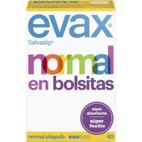 Protegeslip normal plegado EVAX, caja 40 unid.