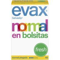 Protegeslip normal plegado fresh EVAX, caja 40 unid.
