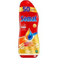 Lavavajillas máquina gel vinagre SOMAT, botella 50 dosis