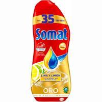 Lavavajillas máquina gel limón SOMAT, botella 35 dosis