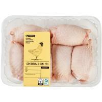 Contramuslos de pollo con piel, bandeja aprox. 1.1 kg