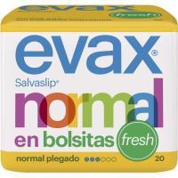 Protegeslip normal fresh plegado EVAX, paquete 20 uds.