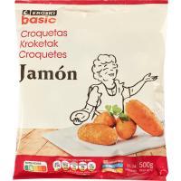 Croquetas de jamón EROSKI basic, bolsa 500 g