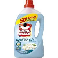Detergente líquido Nature Fresh OMINO BIANCO, garrafa 50 dosis
