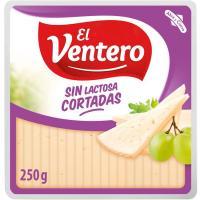 Cortaditas de queso tierno sin lactosa EL VENTERO, cuña 250 g
