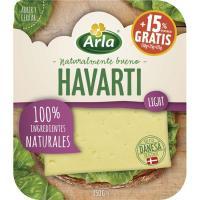 Queso Havarti light ARLA, lonchas, bandeja 150 g