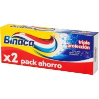 Dentífrico triple protección BINACA, pack 2x75 ml