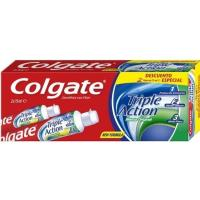 Dentífrico triple acción COLGATE, pack 2x75 ml