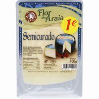 Queso semi FLOR de ARAIA, lonchas, bandeja 100 g