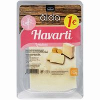 Queso Havarti light ALDA, lonchas, bandeja 100 g