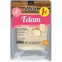 Queso Edam light ALDA, lonchas, bandeja 100 g