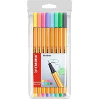 Rotuladores punta fina colores surtidos pastel Pen 88 STABILO, Pack 8 uds