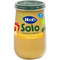 Potito ecológico de manzana-melocotón-plátano HERO, tarro 190 g