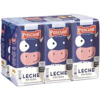 Leche Entera PASCUAL, pack 6x200 ml