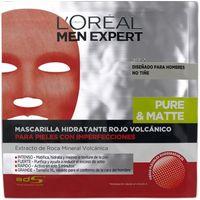 Mascarilla hidratante rojo volcánico L`OREAL Men E, pack 1 unid.