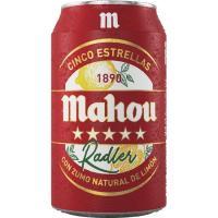 Cerveza Radler MAHOU 5 Estrellas, lata 33 cl